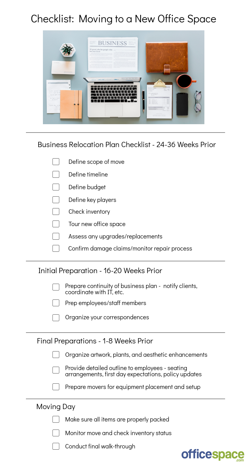 A Complete Checklist and Outline for Moving to a New Office - SVN Pertaining To Business Relocation Plan Template